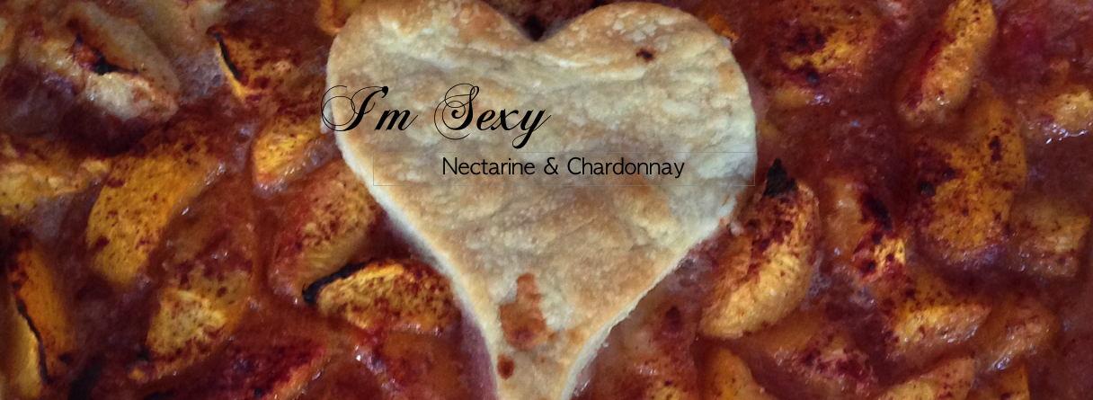 nectarine pie & chardonnay