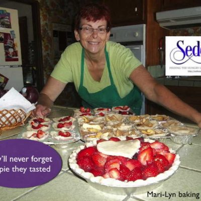 The Pie Princess baking