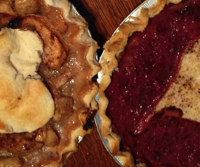 Apple & Plum pies