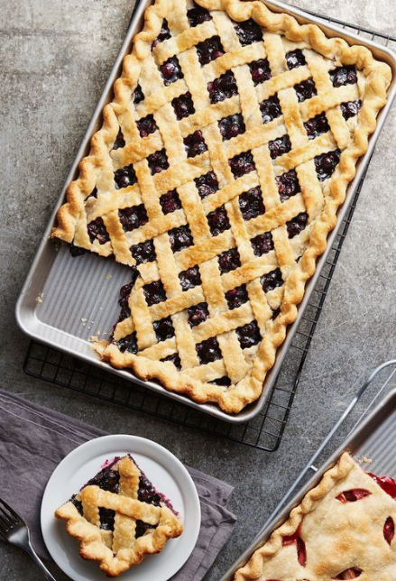 berry slab pies